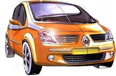 Photo de la Renault Modus de 2004: dessins